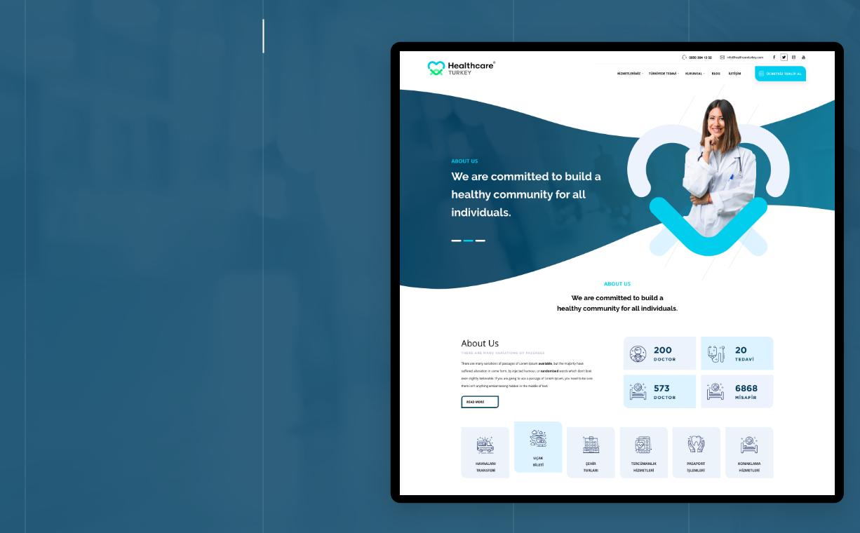Healthcareturkey Sağlık Turizmi Web Tasarım Web Yazılım