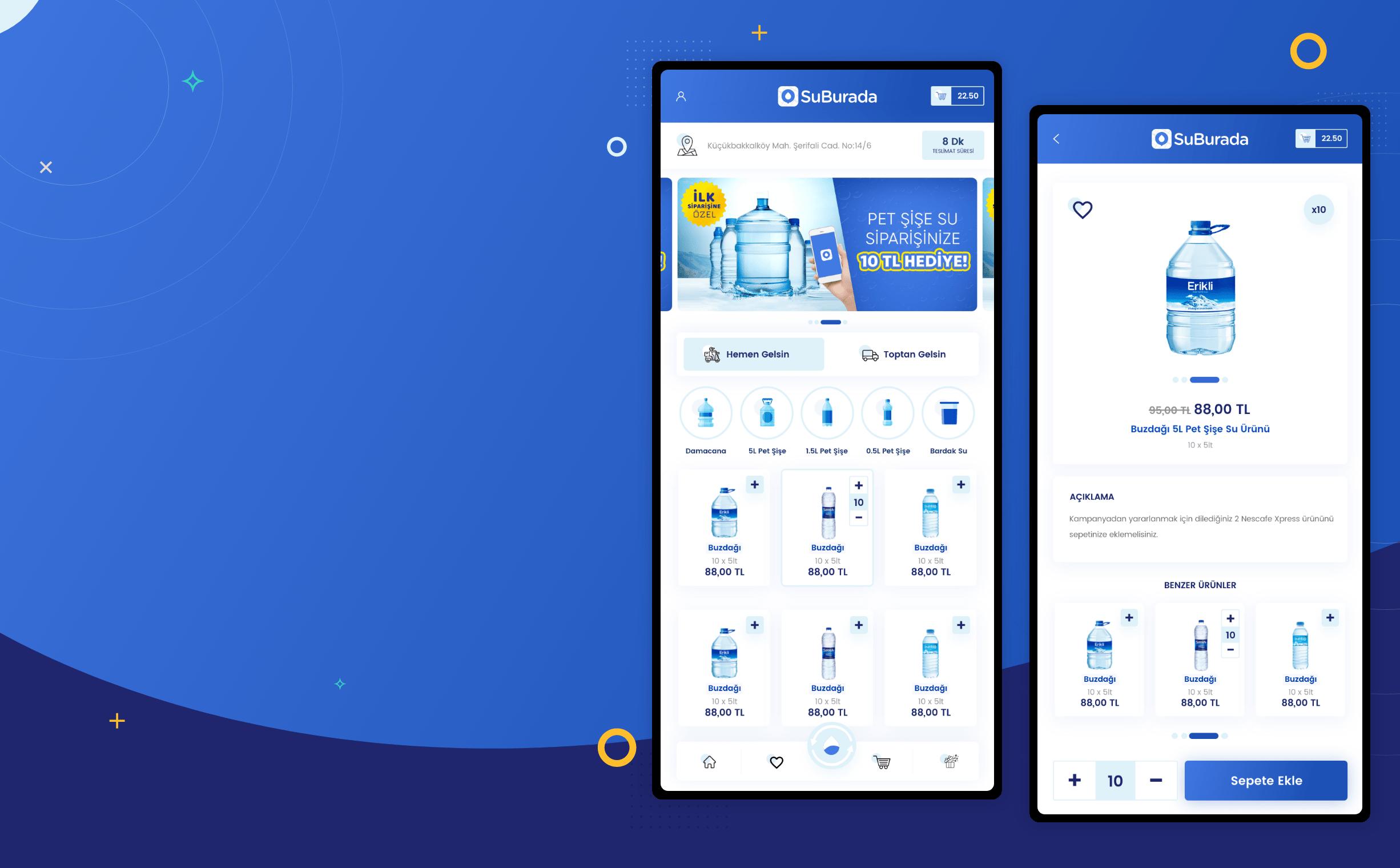 SuBurada Mobil Uygulama UI UX Tasarımı