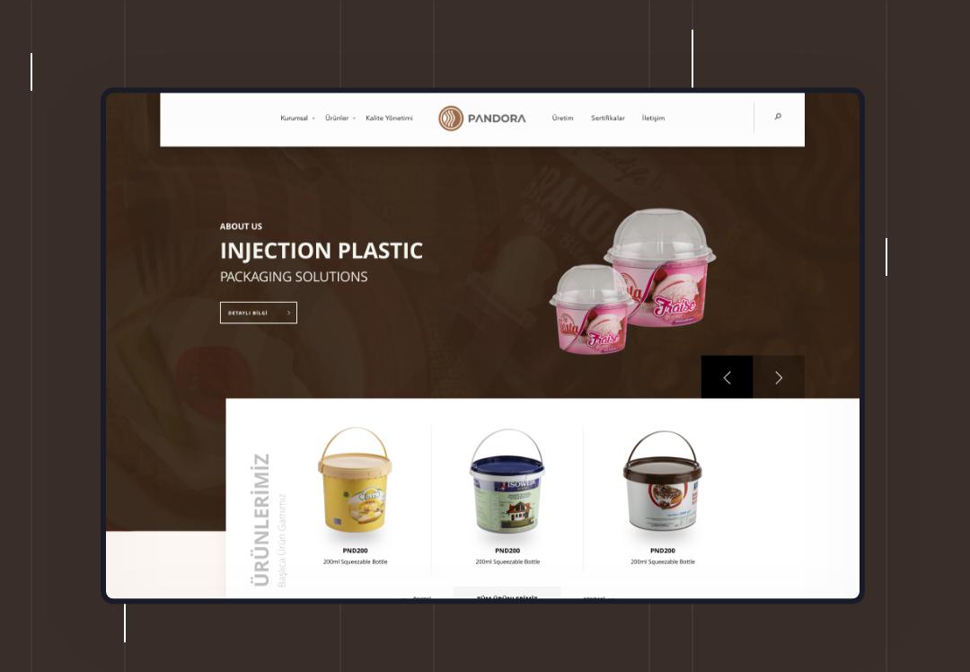 Pandora Plastik Kutu Kurumsal Web Tasarım