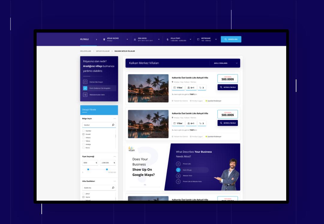 Hellovillam Kiralik / Satılık Villa Web Sitesi