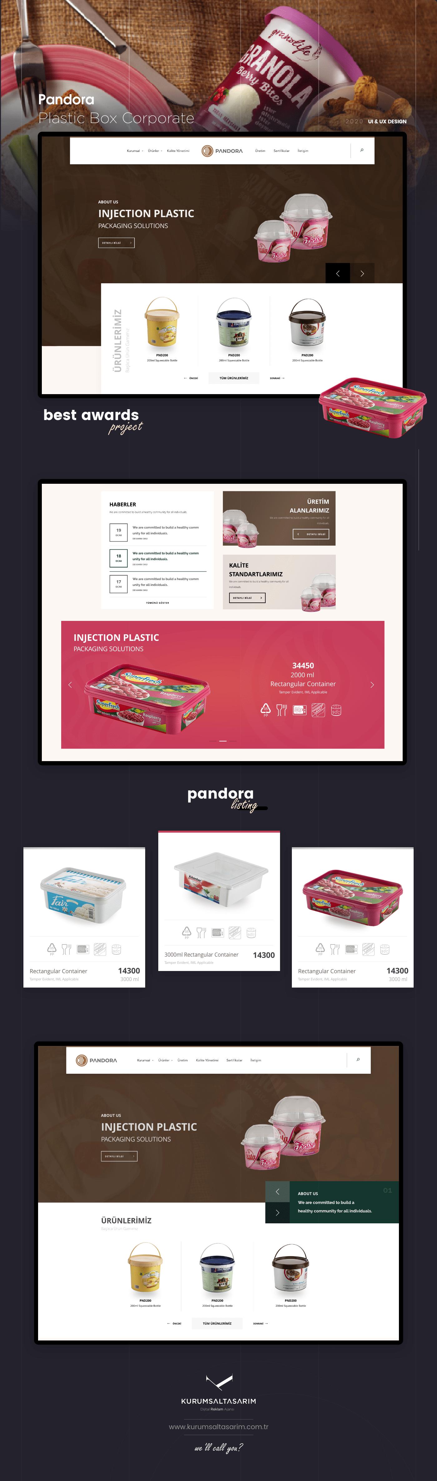 Pandora Kurumsal Firma web Tasarımı