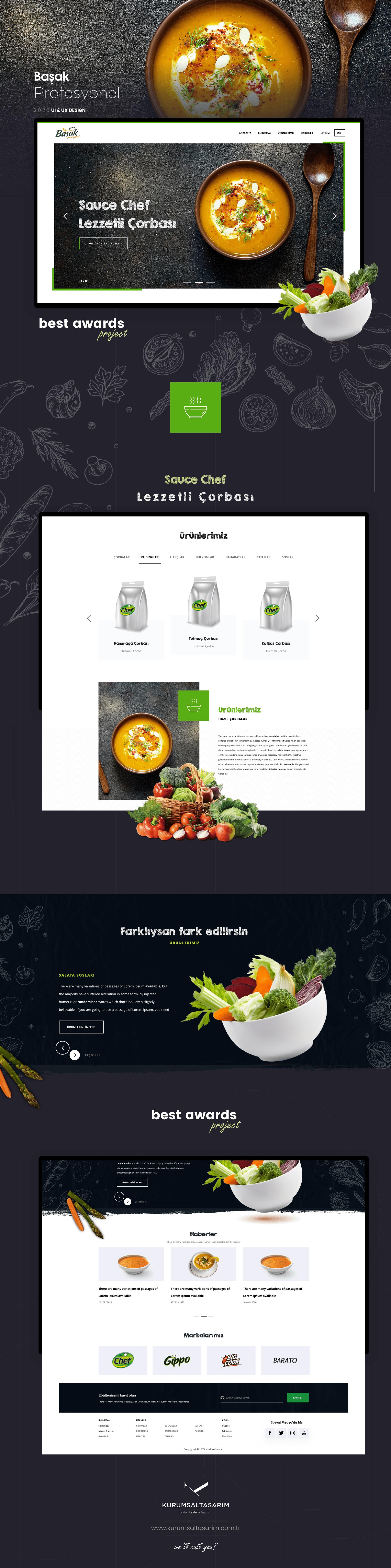 Şef, Restoran, Cafe kurumsal web tasarimi