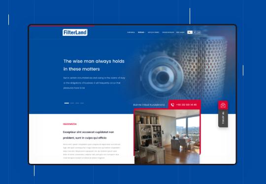 Filterland Otomotiv Kurumsal Web Tasarım – Web Yazılım – CRM