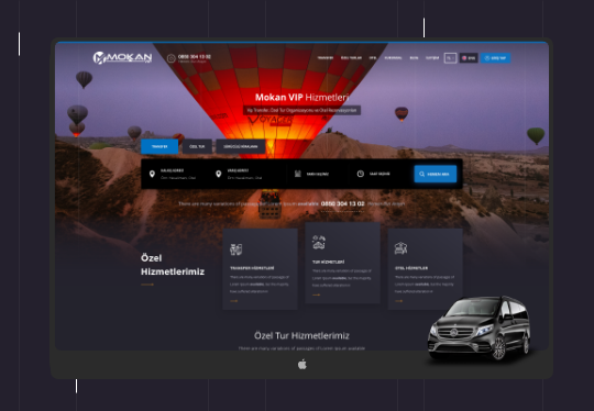 Mokanvip Transfer, Turizm Scripti – CRM – Web Tasarım