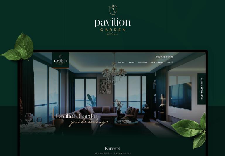 Pavilion Garden Landing Page Web Site Tasarımı