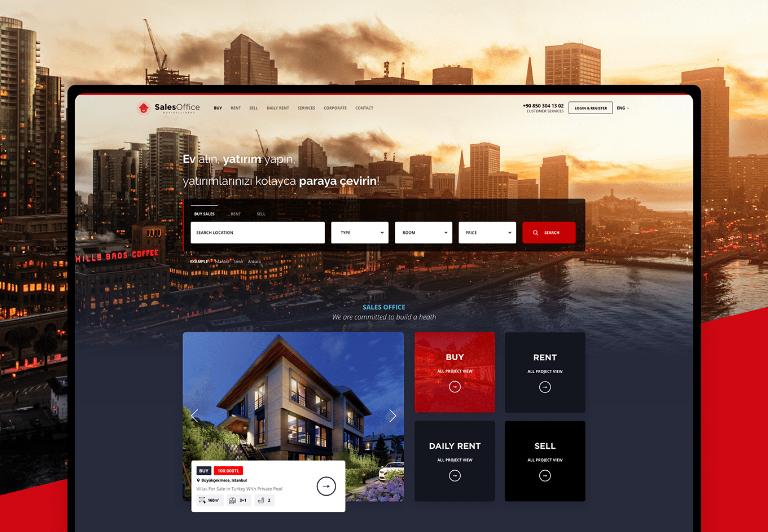Salesoffice Online Gayrimenkul Kiralama, Satış Startup Projesi