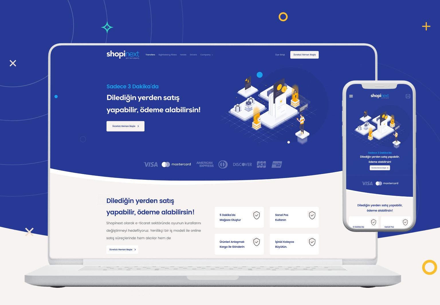 Shopinext UI & UX Web Mobil Tasarım