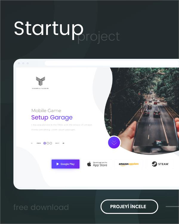 startup one page web tasarım