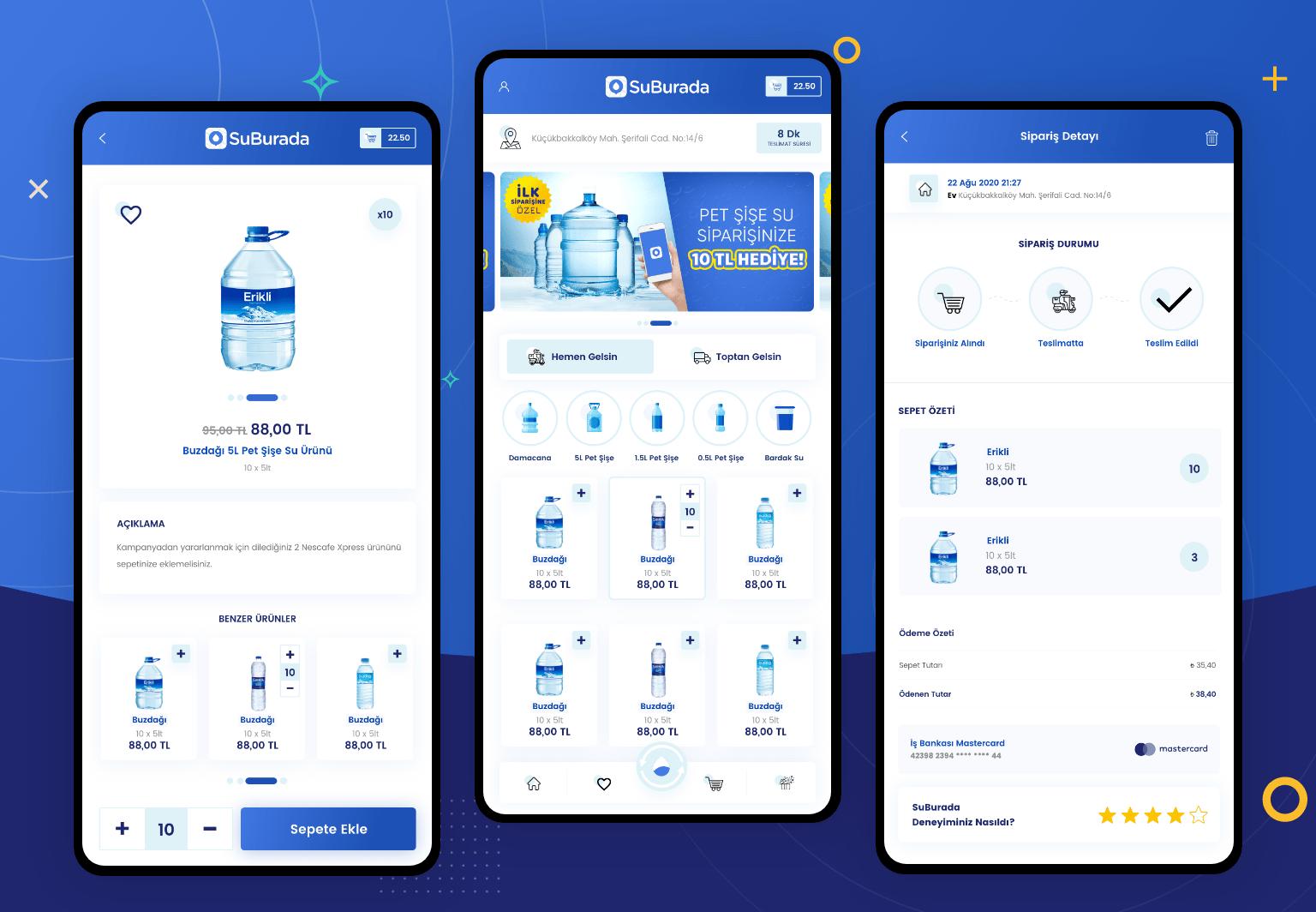 SuBurada Mobil Uygulama UI & UX Tasarımı