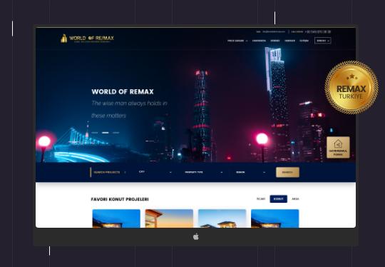Worldofremax Emlak Yazılımı – Web Tasarım